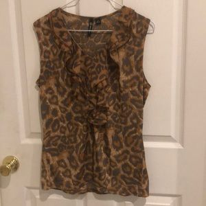 Milano leopard top size med